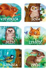 Male šumske životinje - komplet slikovnica