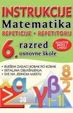 Instrukcije iz matematike za 6. r. os. škole